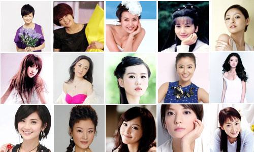 2010年度中国最红美女明星排行榜
