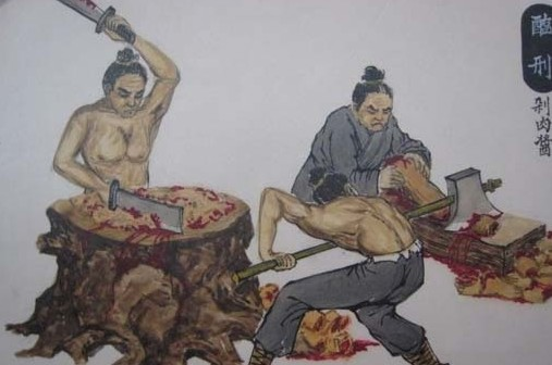6刑罚是将人剁成肉酱