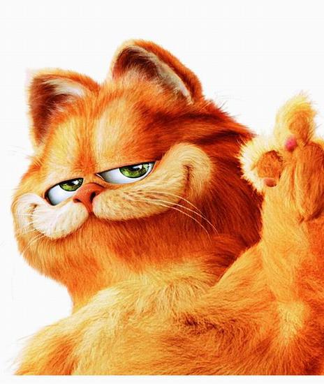 加菲猫-经典动漫人物卡通形象排行榜-天天排行