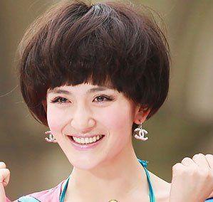 快乐爱心大使 谢娜演绎2011时尚发型(3)_全民; 谢娜蘑菇头短发发型图片