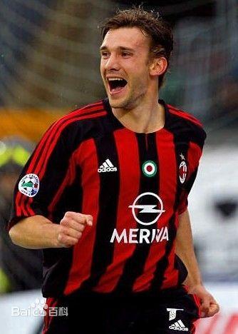 安德烈·舍甫琴科-世界上最著名的足球明星排行榜